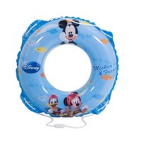 baby boys items - Disney Round Shaped PVC CM Swimming Ring Cute Kids Baby Inflatable Swimming laps Pool Swim Ring Horn turmpet DEB02010 A