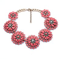 alloy access - 2016 Luxury shiny pendant necklace set auger larger flowers access Fashion Jewelry Factory Supply Lead Nickle free