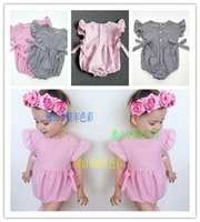 Cheap New Photo Romper Toddler baby girls Clothing Set Cut summer Kids Jumpsuit baby crawling clothes baby romper KR0005