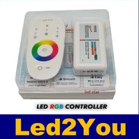 Wholesale DC12 A A RGB led controller G touch screen RF remote control for led strip bulb downlight
