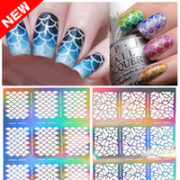 Wholesale 2016 designs Nail Art Vinyl silver Stencil Designs Stickers Decal Sheets Frames