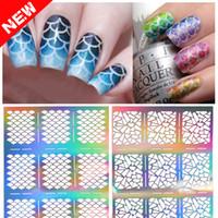 art design frames - 2016 designs Nail Art Vinyl silver Stencil Designs Stickers Decal Sheets Frames