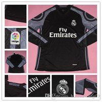 Wholesale New Long Sleeve Madrid Jersey Third Black Purple Ronaldo Jersey Real Ronaldo Bale James Kroos Sergio Ramos Rugby Shirts Kits