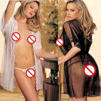 bathrobe belt - Women Sexy Lingerie Hot Negligee Lace Stripper Clothes Sleepwear Bathrobe Female Sexy Underwear Sexy Costumes Erotic For Adult