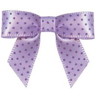 Wholesale 600pcs Pre purple satin Ribbon Gift Package Bow with Twist Tie DHL