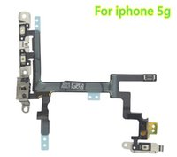 apple switch plates - For iPhone C S Special Switch Power Volume Button Mute Control Mic Flash Metal Plate Flex Cable Practical Replace Parts
