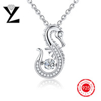 best diamond jewelry - Personalized Sea Horse Sterling Silver Jewelry Women Pendant Ocean Series Designer Dancing CZ Diamond Pendant for Best Friend Gift NP47430A