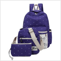 Wholesale Hot Sale Canvas Women Backpack Big Capacity School Bags For Teenagers Set Printing Student Backpacks For Girls Mochila TRD