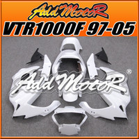 Wholesale Five Free Gifts Addmotor New Goods Best Selling Compression Mold Fairings Body Work Fit Honda VTR1000F VTR1000F White H1708