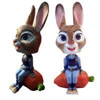 Wholesale Prettybaby zootopia resin bunny Judy model car ornaments interior accessories cm zootopia action figure toys Bobblehead Pt0405 la
