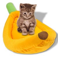 Wholesale 1PCS Banana dissolve wash Kama Perrault Case brown Cat Beds dog kennel warm house pet