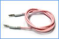 Wholesale AUX audio line meter weaving mm male approaches to support mobile computer car audio MP3 joint section color