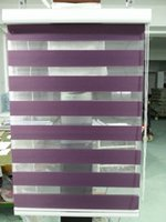Wholesale Custom Made Polyester Translucent Roller Zebra Blinds in Dark Purple Window Curtains for Living Room GY01 Colors are Available