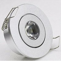 bathroom counter lamp - 10pcs mini W LED Downlight silver shell ceiling Cupboard light W spot lights led lamp downlights V V Counter lamps