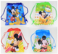 Wholesale Hot Mixed Classic Character Mickey Mouse backpack popular girls schools bags good quality canvas cartoon kids backpack Free Shippin