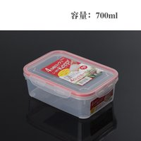 food storage container - 2016 japan storage bag style lock button quad sealed crisper food refrigerator storage box Fresh keeping plastic food containers