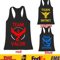 Wholesale 2XL Fashon Men Boys Poke Go Tank Tops Summer Sleeveless Tank Plain Vest Cartoon Action T shirt Clothing Red Yellow Blue GD T06