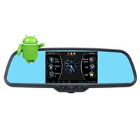 armed gps tracker - Newly Original P Inch Android Car DVR Rearview Mirror GPS Built in G Sensor With Bracket Support Parking Monitoring