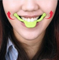 beauty exercises - Hot Smile Maker Mouth Corrector Smiling Expression Exercise Raise Angulus Oris Face Lift Massager Beauty Care green orange