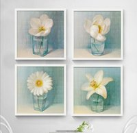 Wholesale Wall Art Pictures Oil Painting On Canvas Home Decoration Flowers Simple Chinese style Artwork The Picture Decor Painting Calligraphy