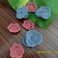 Wholesale handmade cotton lace flowers accessories blue zakka three dimensional flower webbing for wedding decoration