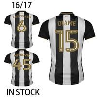 Wholesale 2016 Gouffran Newcastle United Soccer Jerseys Mitrovic Perez Ritchie Camisetas de futbol Shelvey Gayle Maillot de Foot Football Shirt