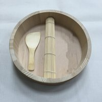 bamboo sushi plate - Japanese Household Sushi Making Machine Kit Bamboo Roll With Plate And Spoon One Piece