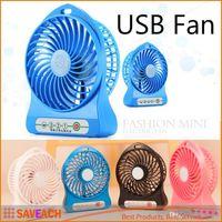 Wholesale Portable Lithium Battery Rechargeable Fan Desk Table Fan USB Mini Fan With Retail Package