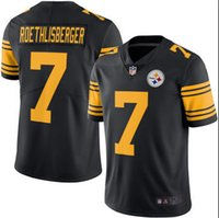 antonio brown steelers - 2016 Men s New Steelers jerseys Pittsburgh Ben Roethlisberger Antonio Brown Black Color Rush Limited Jersey Authentic football shirt