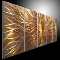 Wholesale oil painting art home decor original metal painting wall lmpression painting modern abstract art