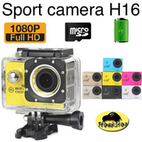 Wholesale H16 Piece Retail Gopro SJ7000 style Sport Action camera style P inch LCD waterproof WIFI Battery mAh degree wide angle