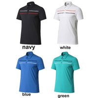Wholesale Golf T Shirt Men Golf Short Sleeve T Shirt Quick Dry Sportswear Breathable Golf Polo Shirts High Quality Colors for Choosing