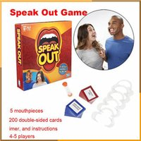Wholesale 2016 Hottest Speak Out Game KTV party game cards for party Christmas gift newest best selling toy
