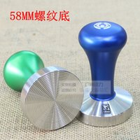 aluminium coffee beans - Stainless Steel Coffee Tamper Barista Espresso Tamper mm Base Coffee Bean Aluminium Alloy Knob