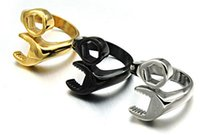 Wholesale US Fashion Biker Party Ring Classic Stainless Steel Casting Men s Wrench Rings New Arrival Jewelry