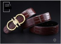 Wholesale Limited Top Fashion Belts One Size Standard Brown Genuine Leather Belts Men And Women Casual Smooth Buckle