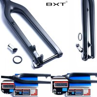 bicycle axles - MTB Carbon Fork er Downhill DH Bicycle Fork Bicicletas Rigid Mountain Bike Front Fork Fibre rock shox Tapered Thru Axle mm