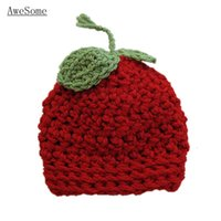 apple fruit photo - Lovely Little Red Apple Beanie Handmade Knit Crochet Baby Boy Girl Fruit Hat Children Winter Hat Toddler Infant Photo Prop
