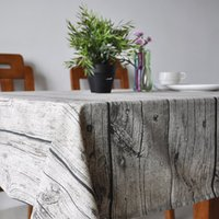 Wholesale Art OF Wood New Exotic Flowers National Wind Wood Design House Restaurant Cotton And Linen Tablecloth Table Cloth Art Home Decor