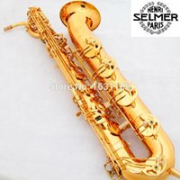 baritone saxophone mouthpieces - France Selmer Baritone Saxophone Gold Lacquer Carving Professional Eb Sax Mouthpiece Sax saxophone Saxogfone