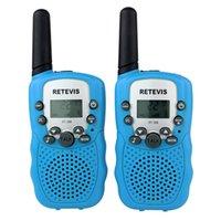 Wholesale 7027G2PCS sky blue Walkie Talkie Retevis RT UHF MHz W CH For Kid Children LCD Display Flashlight VOX Two Way Radio