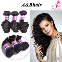 ab machine - 8A Brazilian Virgin hair bundles Indian loose wave hair weave bundles AB HAIR PRODUCTS unprocessed loose wave human hair
