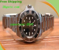 Wholesale NEW Top Quality Luxury Watches Sea dweller Stainless steel mm Mechanical Sapphire Men s Sports Wrist Watches Black Dial