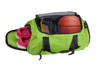 bag shoe compartment - 2016 Popular Waterproof Outdoor Sports Bag Duffle Gym Bag Sports Bag Travel Bag Independent Shoe Bit