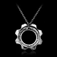 cogs - Fashion Sale Gears Of War Metal Cog Dog Tags Pendant Necklace Movie Jewelry