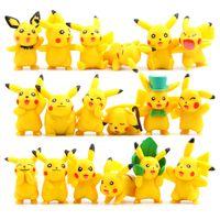 Wholesale Hot Sale Pokemongo Models Cute Pikachu mini Action Figures Styles Poke Go Japanese Anime Collection Toys PVC Pikachu Cartoon Game