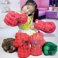 Wholesale Boxing hulk creative cartoon spider man toy gloves fist hand accidentally knuckles