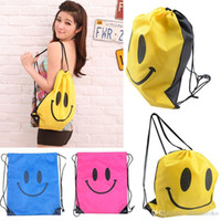 Wholesale 2015 New LOVELY Smile Bags Travel pouch sack For women shopping Swimwear package Free DHL FedEx