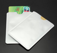 Wholesale 10 Safe Anti Theft RFID Shield Blocking Holder Contactless Magnetic IC ID Bank Credit Cards Secure Sleeve Waterproof