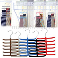 Wholesale New Bar Belt Tie Scarves Neck Slip Hanger Rack Holder Storage Organizer Closet